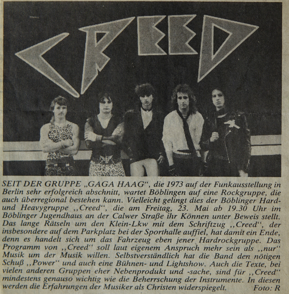 Creed news article #1