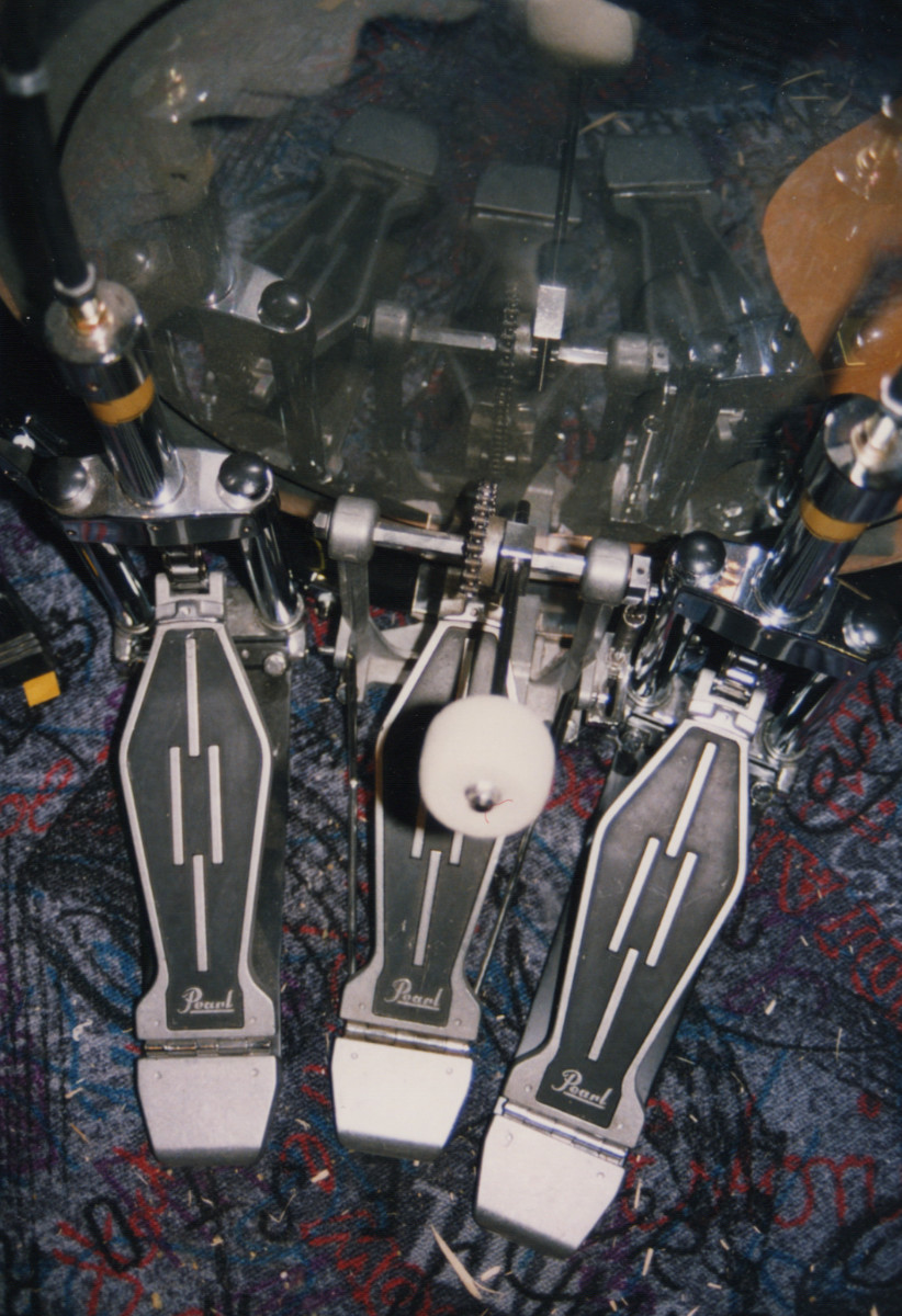 Drums Pearl 3 pedals