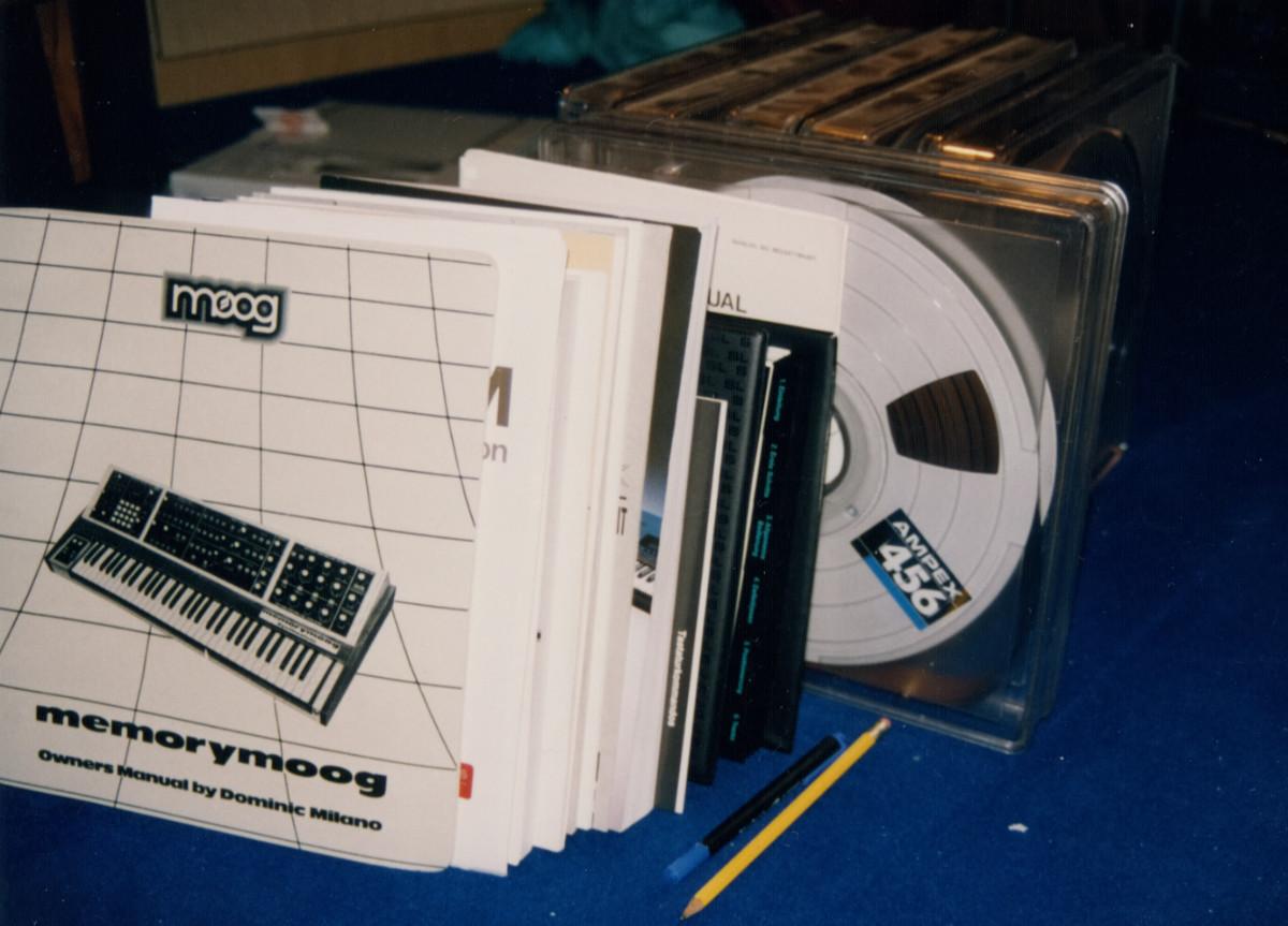 Memorymoog manuals and reels